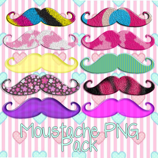 Different Color Mustache