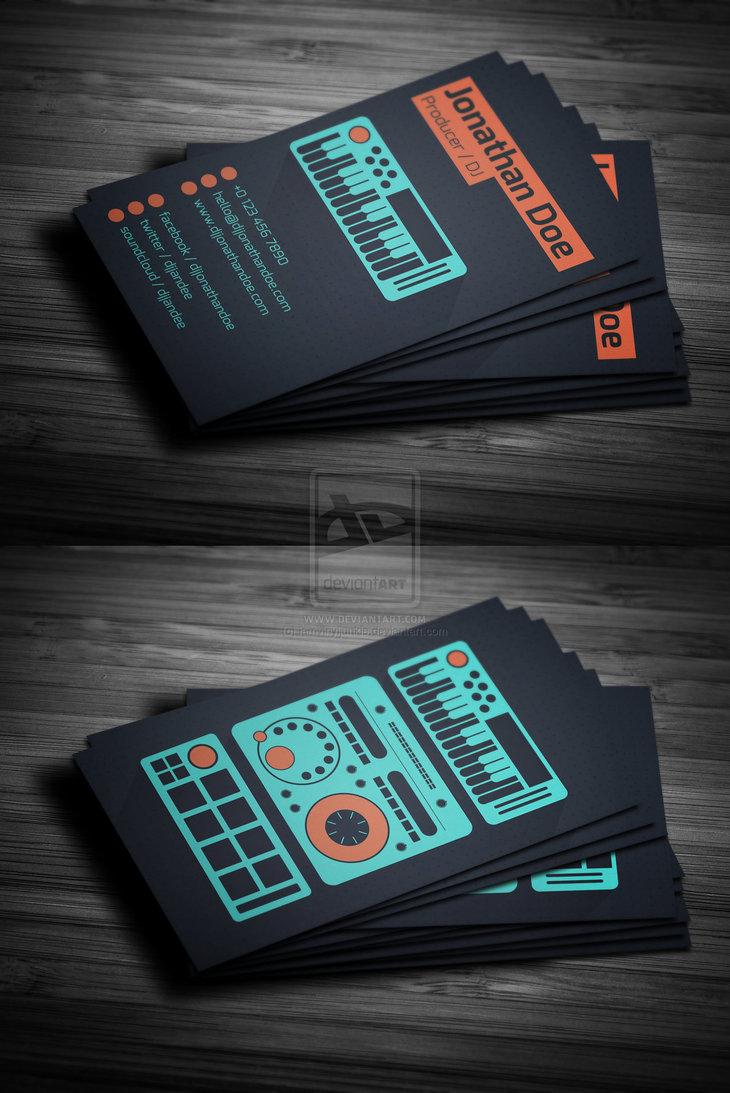 11 DJ Business Card PSD Images - DJ Business Cards Templates Free ...
