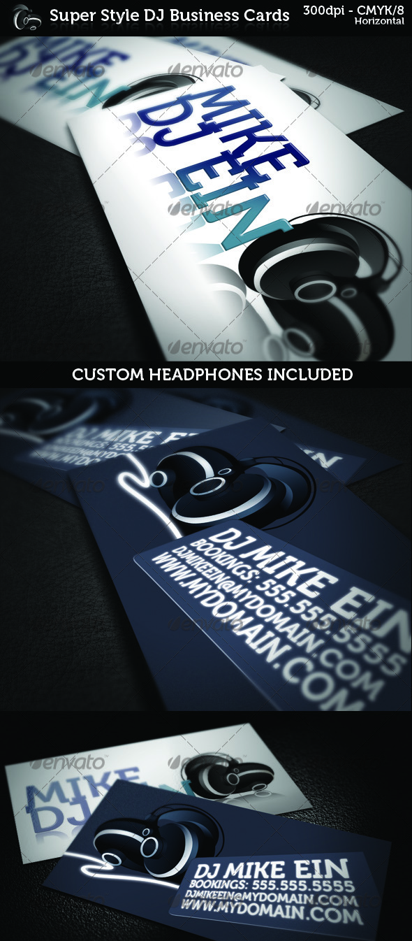 11 DJ Business Card PSD Images
