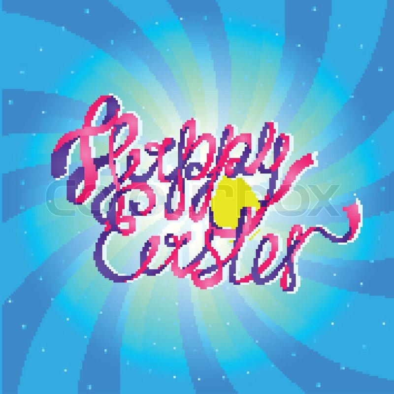 Easter Greeting Happy Holiday