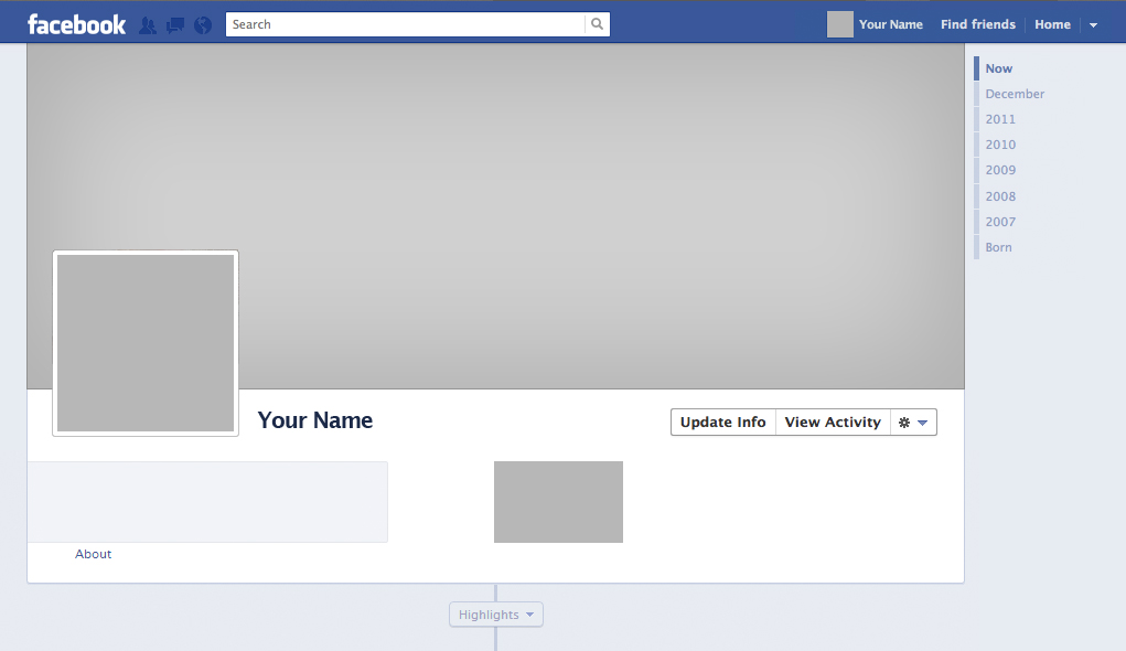 12 Mobile Facebook Profile Layout PSD Images