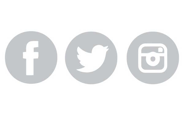 Facebook Twitter Instagram Icons