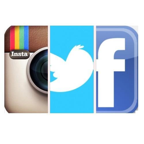Facebook Twitter Instagram Logos