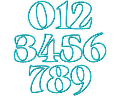 10 Cute Number Fonts Images