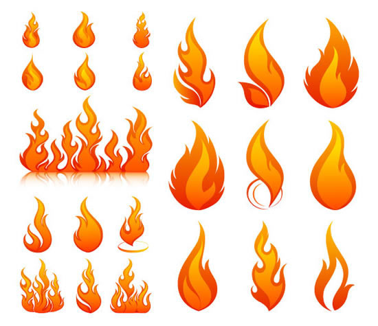 19 Vector Flame Outlines Images