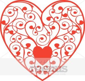 Floral Heart Clip Art