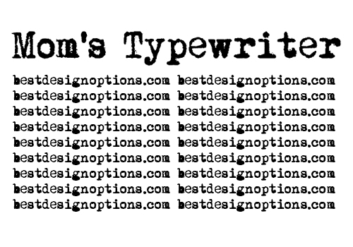 13 Fonts That Look Like Old Typewriter Images