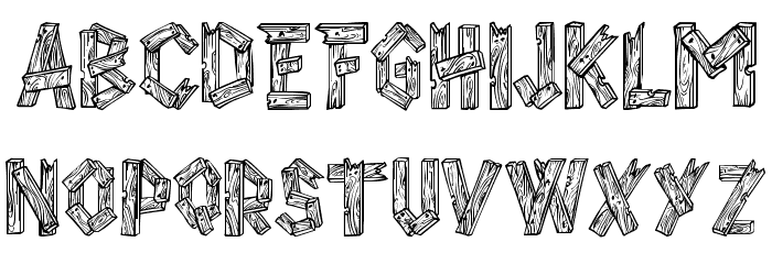 Letter fonts that look like wood images font