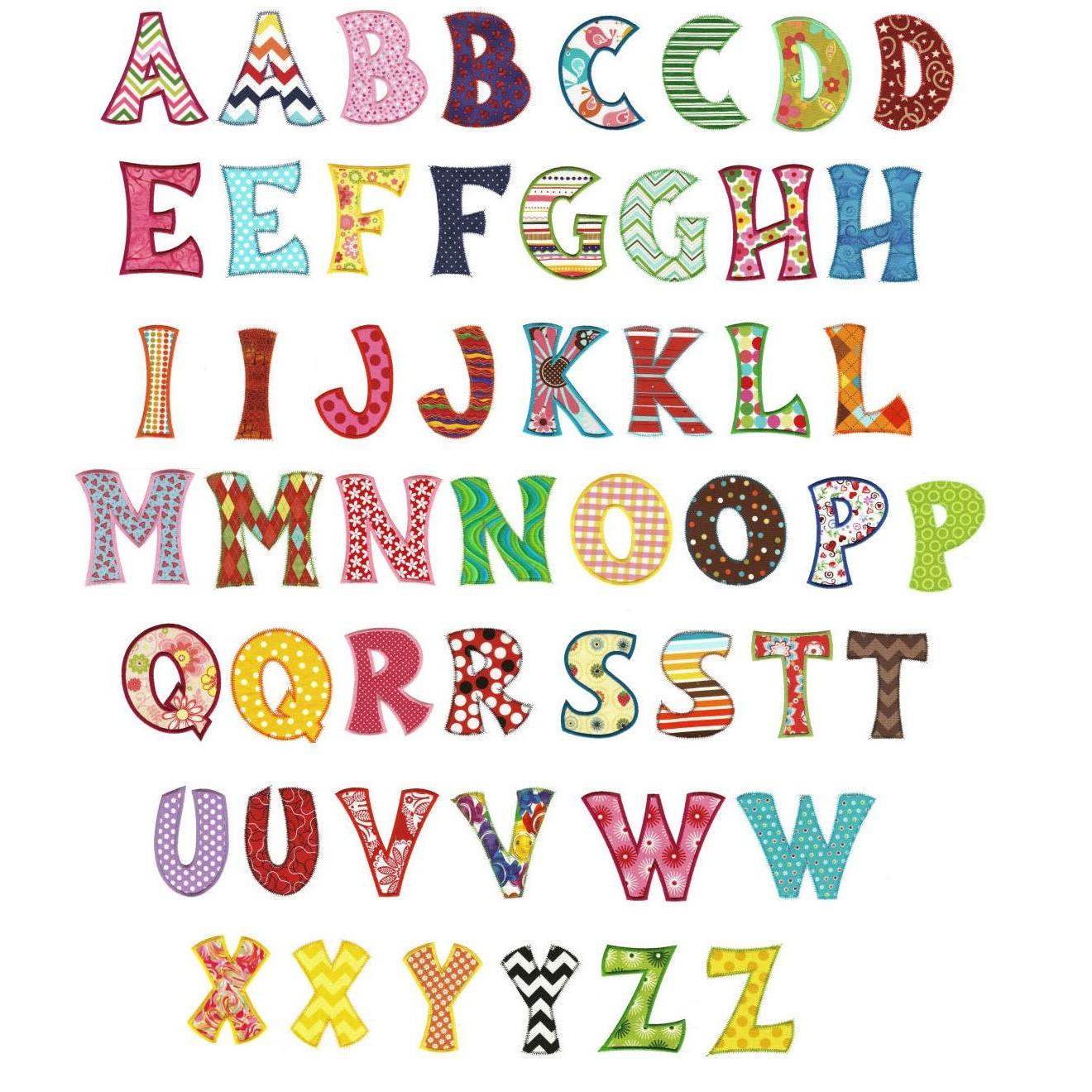 Free Applique Alphabet Embroidery Designs