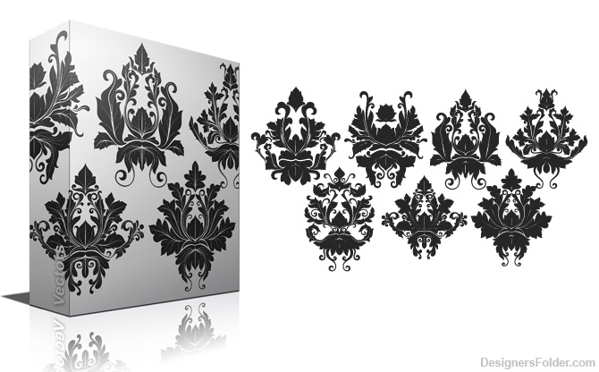 Free Damask Photoshop Brushes