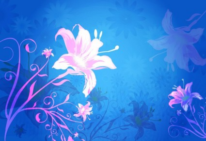 Free Flower Vector Graphics Background
