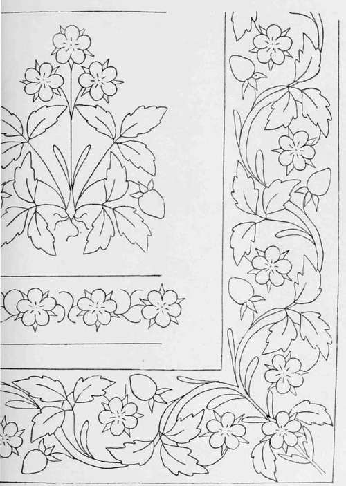 Hand embroidery border designs images free