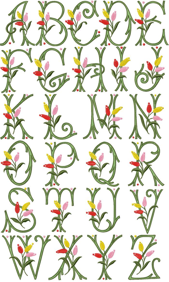 Free Machine Embroidery Alphabet Designs