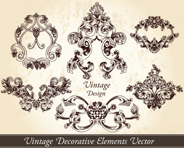 Free Vintage Vector Decorative Elements