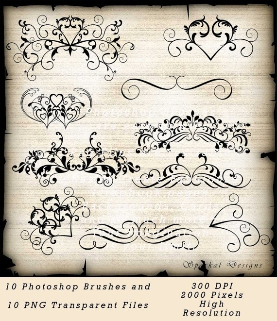 Free Wedding Flourishes Clip Art