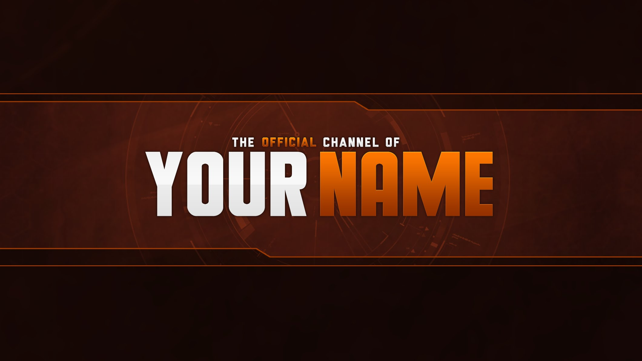 Free YouTube Banner Template PSD