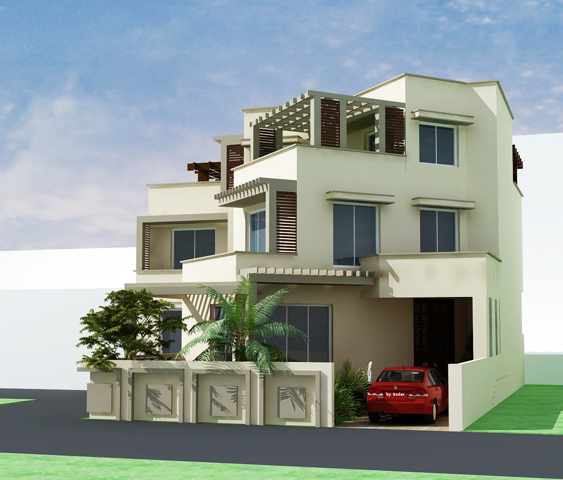 9 home design front elevation images modern front house for Normal home front design