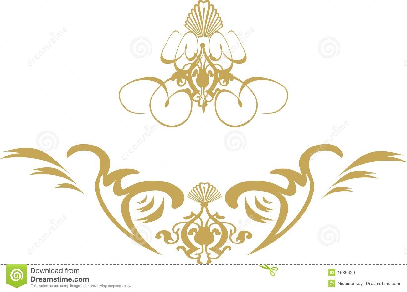 14 Gold Swirl Design Images - Free Gold Vector Swirl ...