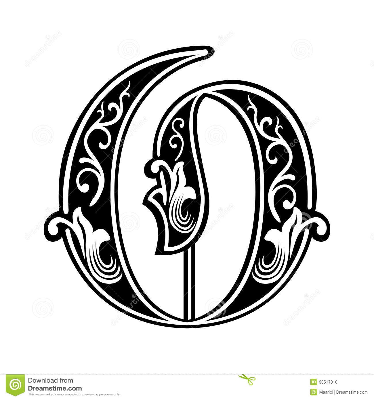 Gothic Style Font Letter O