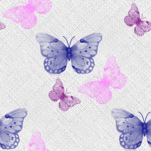 Green with Purple Butterfly Background