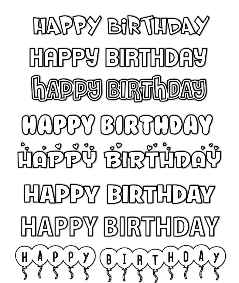 13 Cool Birthday Fonts Images