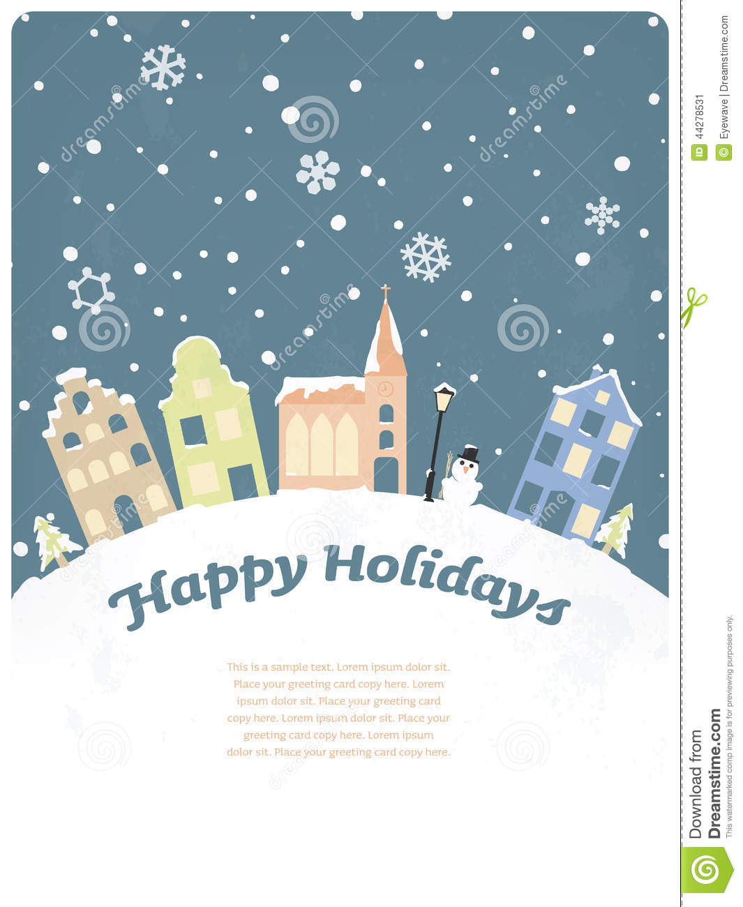 17 Happy Holidays Greeting Card Vector Images