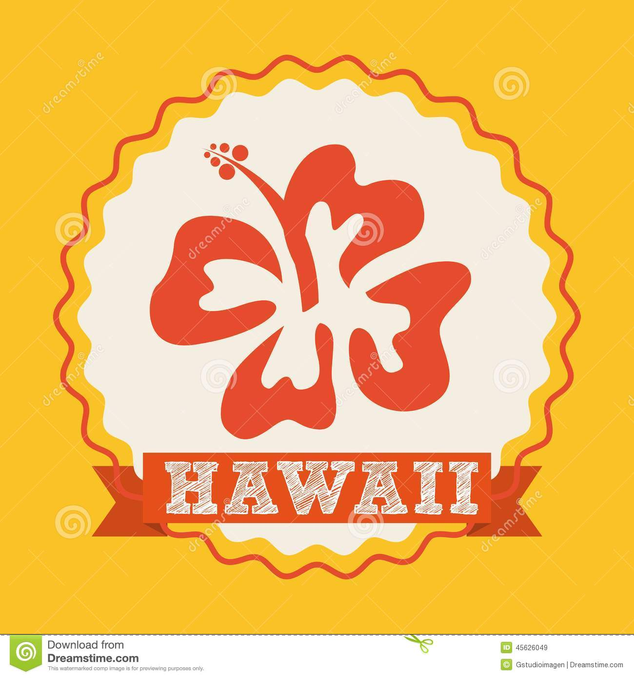 Hawaii Flower Design