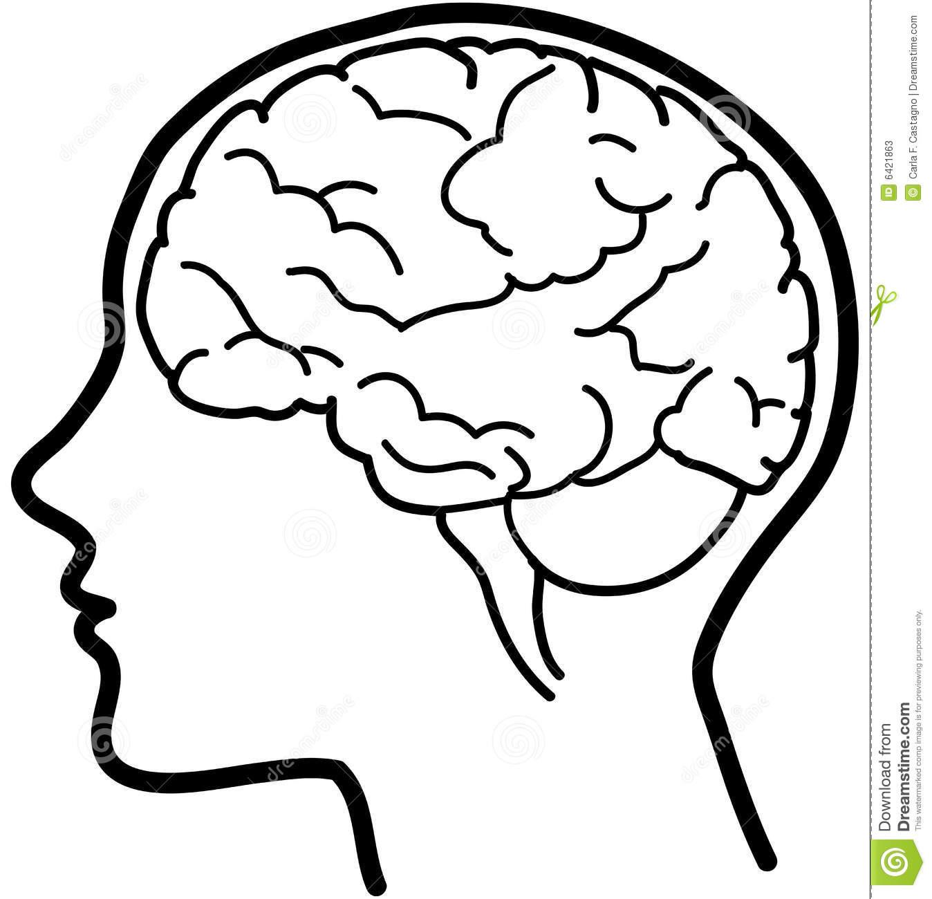 9 White Brain Icon Images