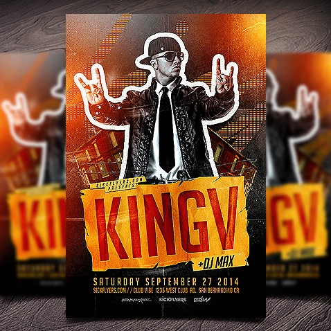 Hip Hop Flyer PSD Template