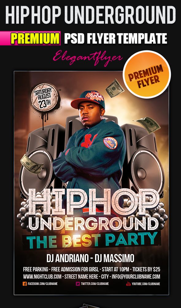 Hip Hop Flyer Templates