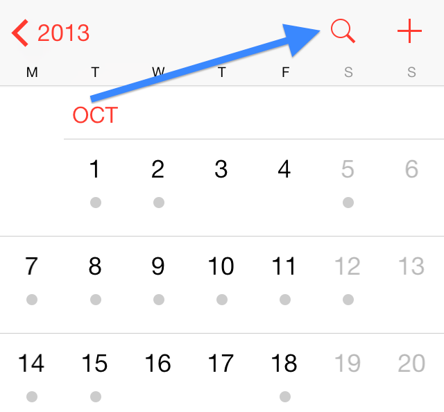iOS 7 Calendar App Icon