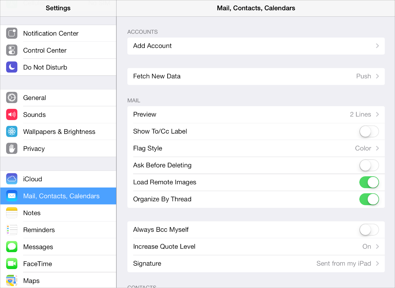 iOS Table View Controller