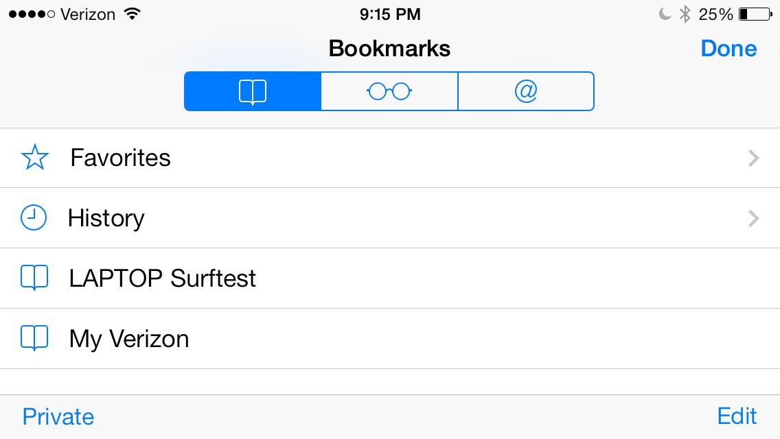 iPhone Safari Bookmark Icon