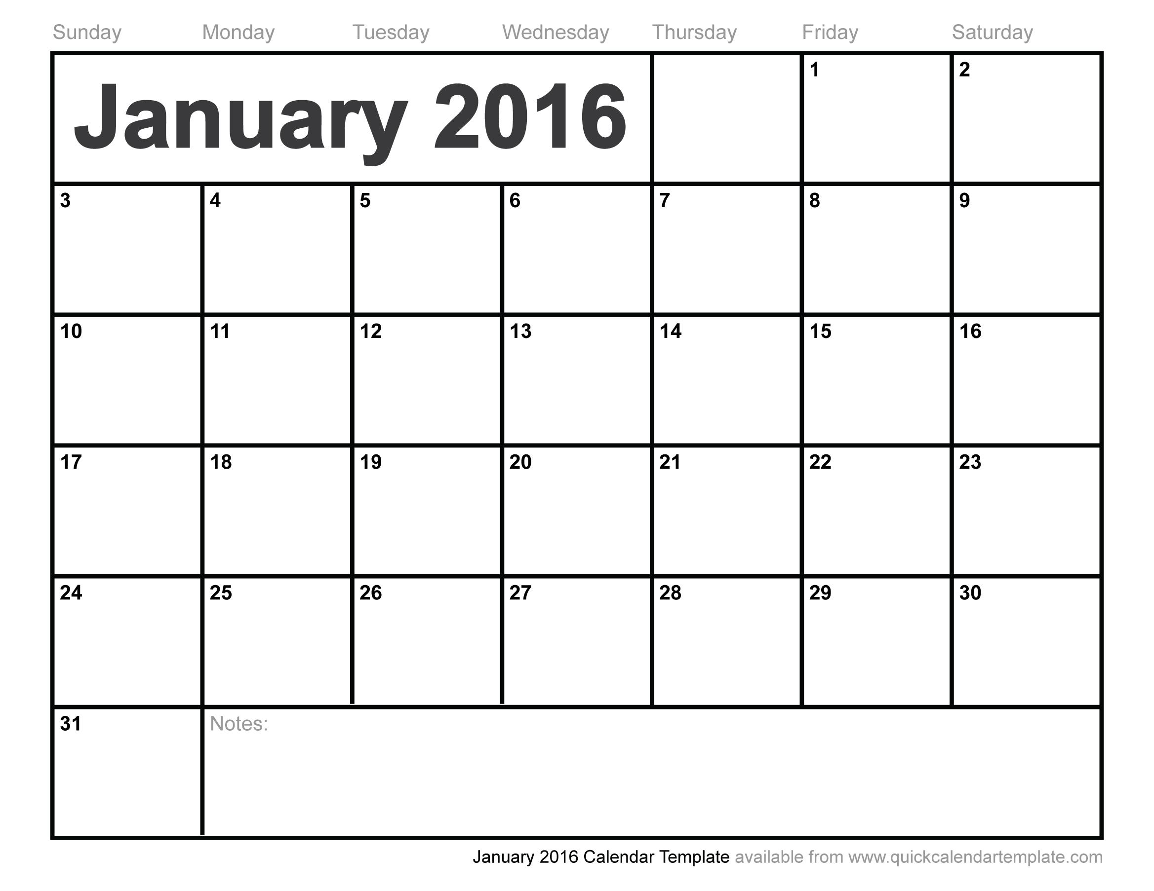19 2016 Calendar Template Images