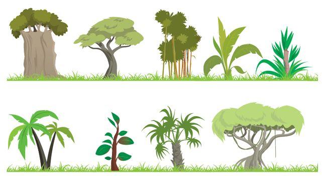 free clipart jungle trees - photo #20
