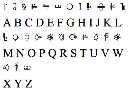 16 smallville superman font images vw logo shirt kryptonian alphabet and general zod symbol. Black Bedroom Furniture Sets. Home Design Ideas