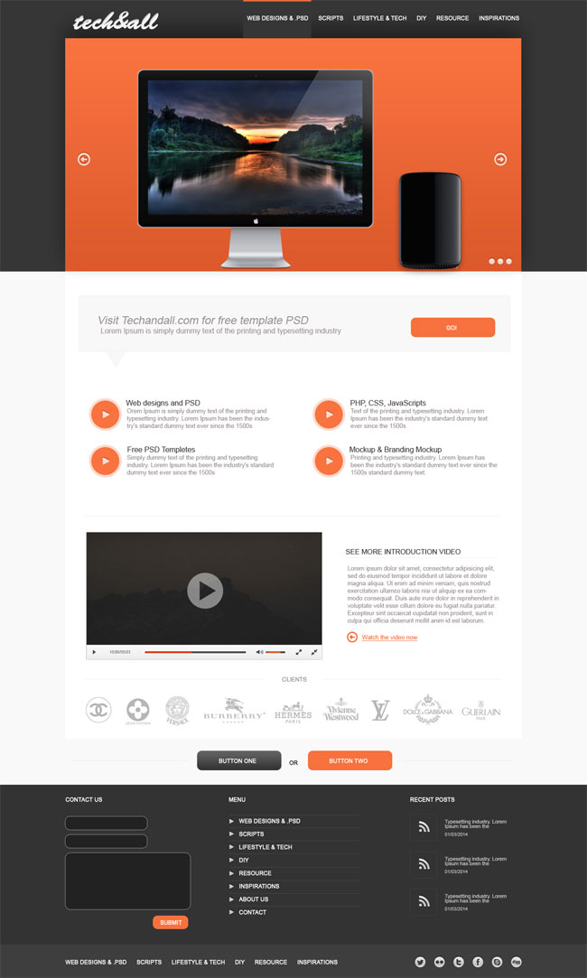 6 Free Landing Page PSD Template Images