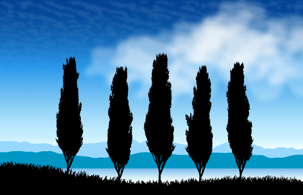 Landscape Silhouette Vector Free
