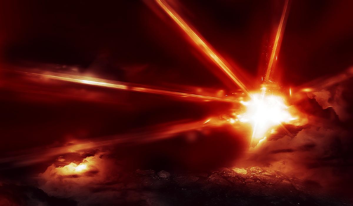 Laser Beam Effect Photoshop