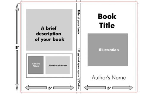 How To Make A Book Cover : Book jacket template images templates covers
