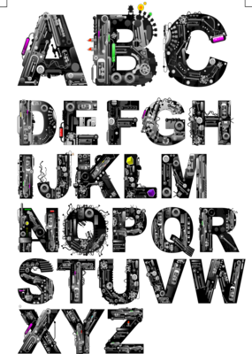 16 PSD Letter Styles Images