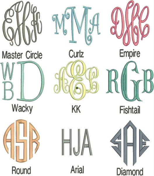 free monogram generator for embroidery machine