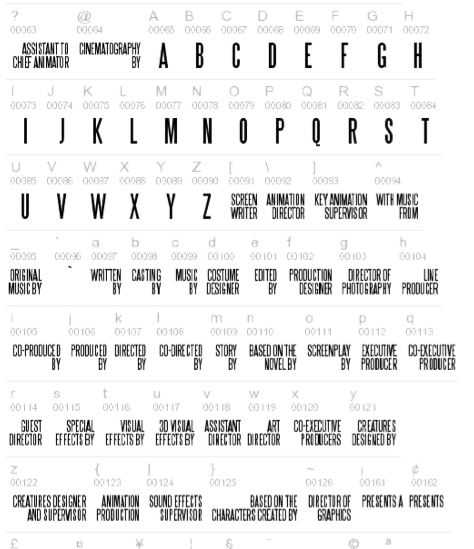 12 movie poster font images movie credits font movie