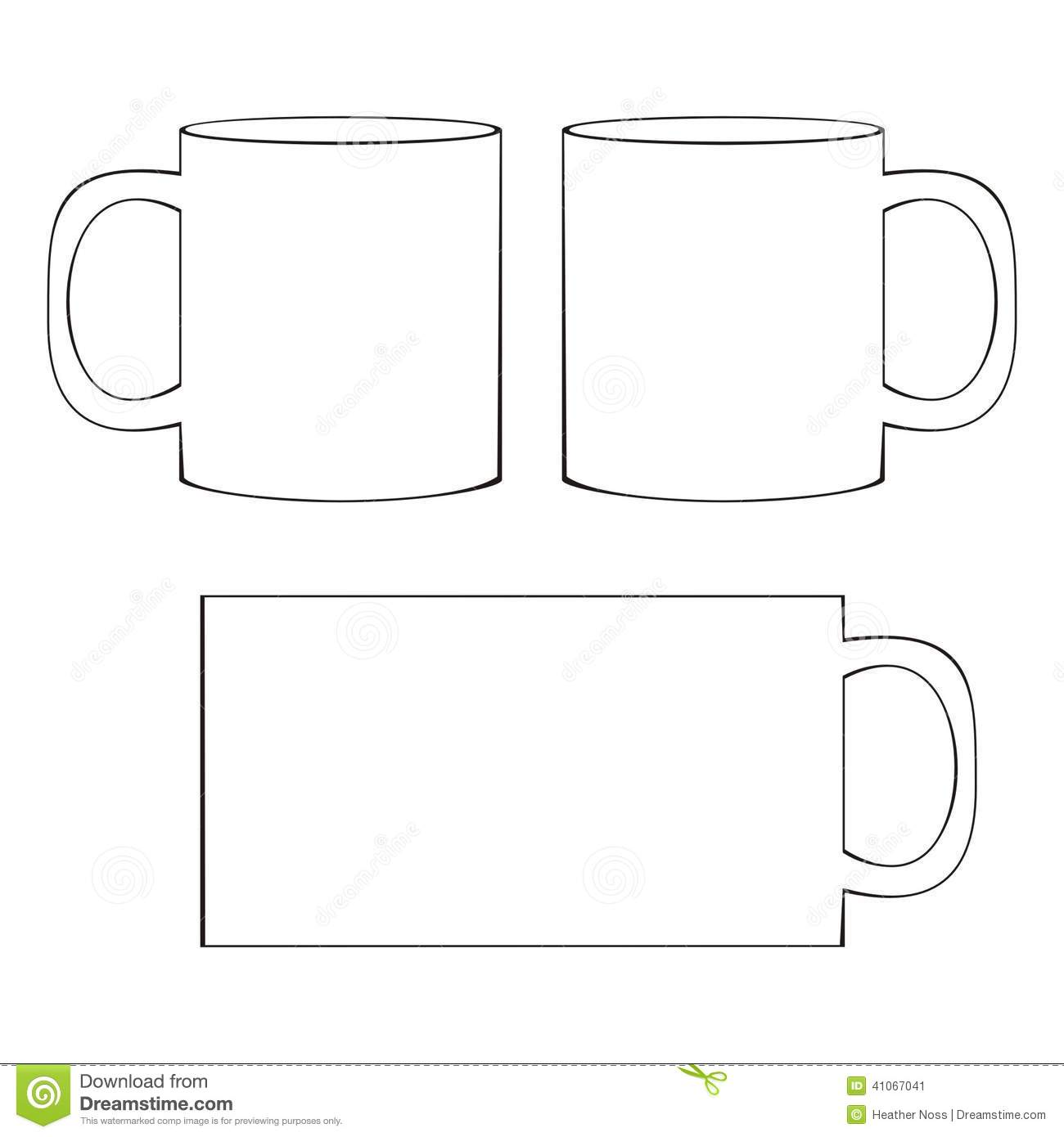 20 Mug Template Vector Images Free Vector Coffee Cup