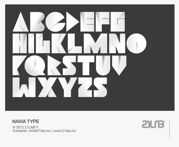 Negative Space Letters Font