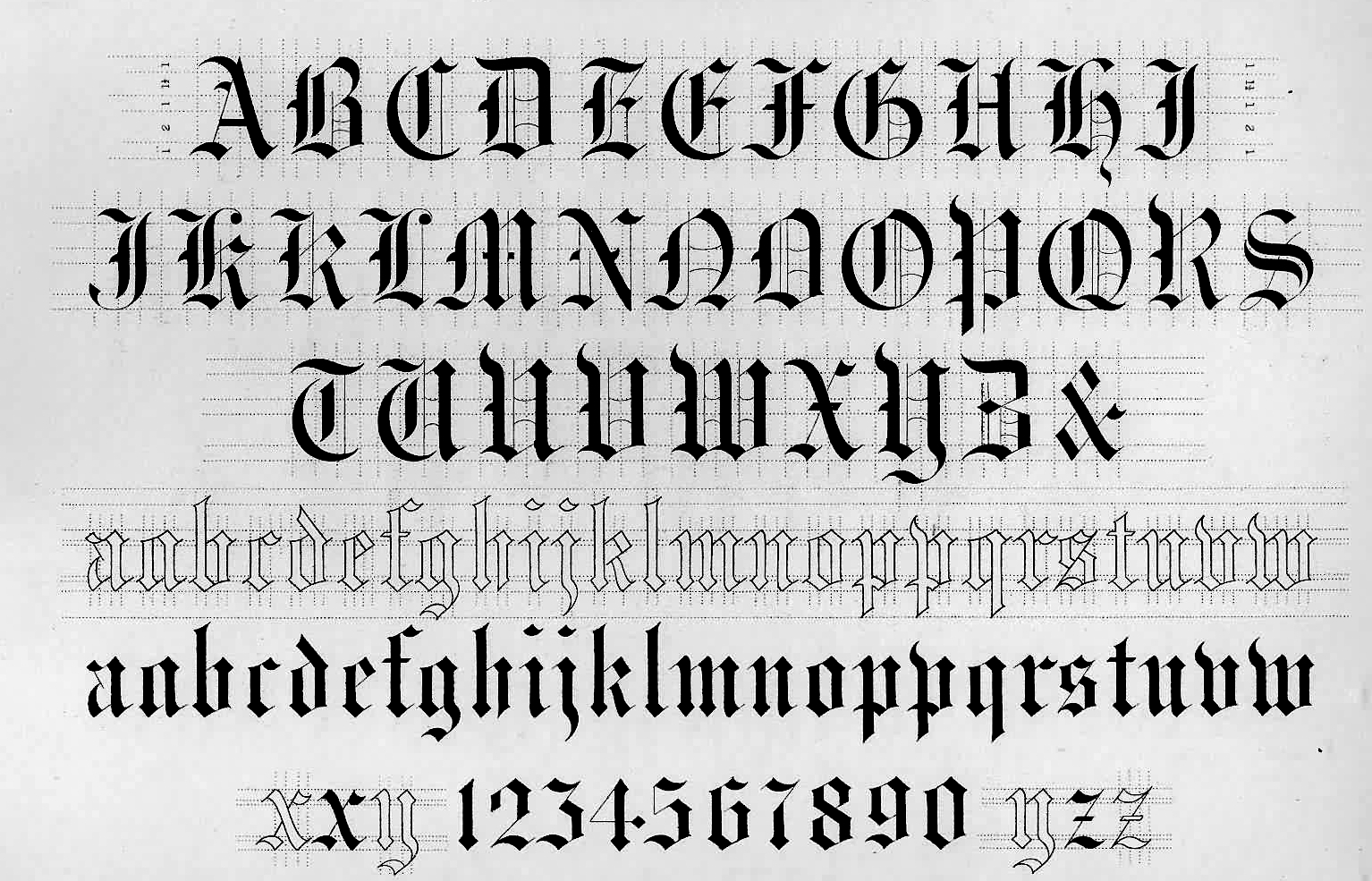 Old English Letter Font Images Reference Template Word