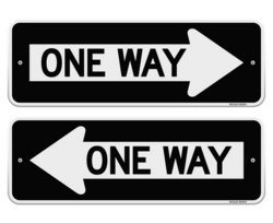 11 One Way Sign Vector Images