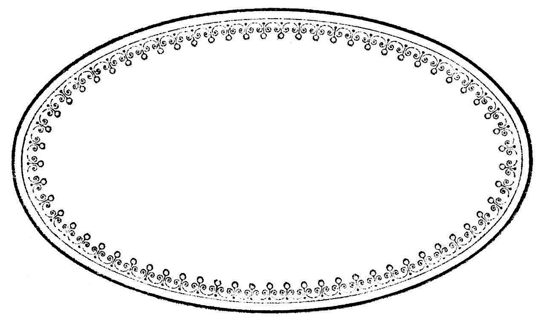 Oval Border Frame Free Clip Art