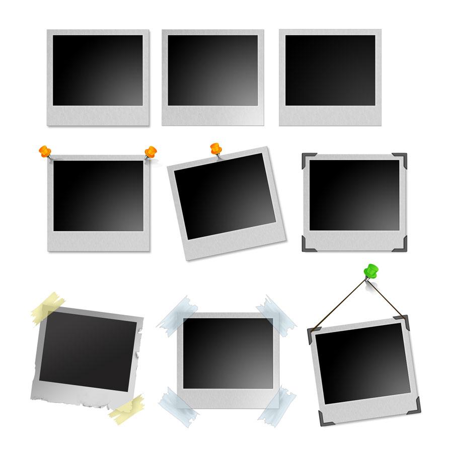 Polaroid Frames PSD Templates