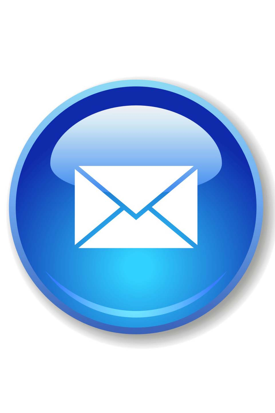 Round Blue Email Icon